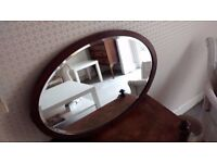 Antique Oval Bevelled Mirror