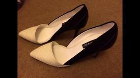 5.5 heels cream black
