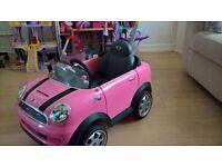 Mini Cooper Pink push along