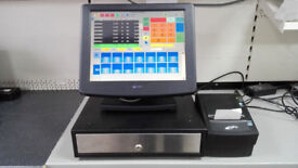 15 INCH TOUCHSCREEN EPOS TILL SYSTEM COMPLETE FOR HSOPITALITY OR RETAIL CASH TILL POSIFLEX KS6000