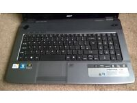 Faulty for spares or repair, Acer Aspire 7736G laptop