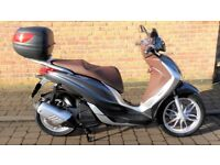 2016/16 Piaggio Medley 125cc ABS Scooter VGC ONLY 633 Miles Balance of 2 Warranty