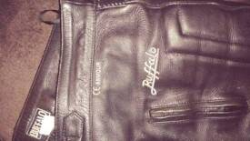 Buffalo motorcycle leather trousers