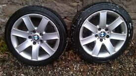 BMW 3 series E46 Alloy wheels (a pair)