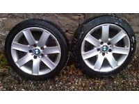 BMW 3 series E46 Alloy wheels (a pair)
