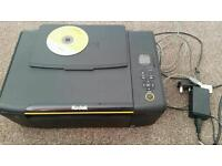 Kodak pc computer printer scanner with cable and disk.