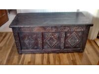 Wood chest carved