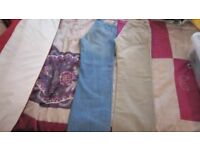 2 x size 30W reg trousers. 1 x Timberland unworn and 1 standard jeans tesco