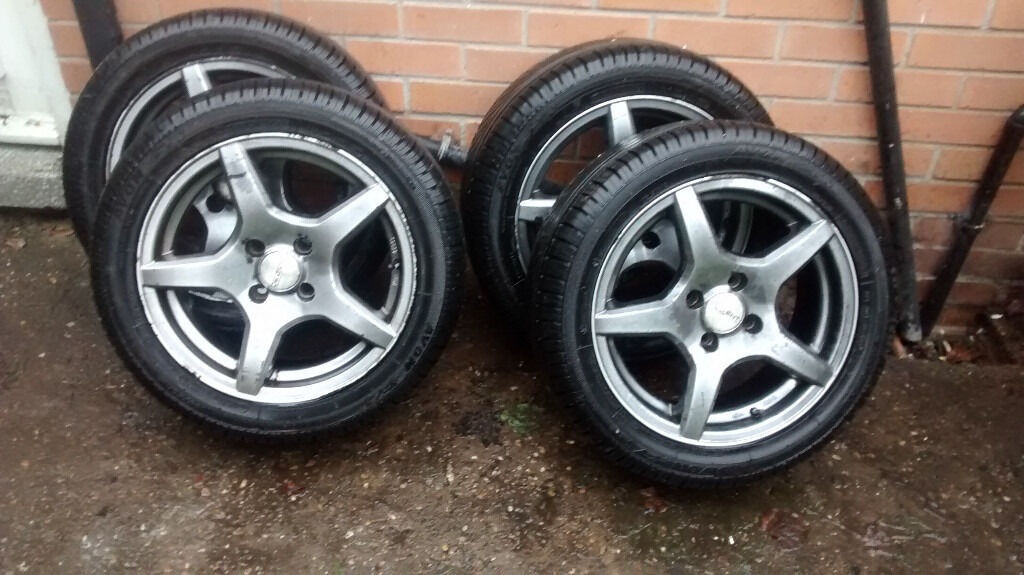 4 tyres 195 50 r15 with alloys in sherwood nottinghamshire gumtree. Black Bedroom Furniture Sets. Home Design Ideas