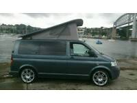 "Vw t5 camper elevating roof low miles 20"" alloys hpi clear ,price reduced"