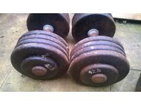 dumbbell weights set 2 x 42.5 kg