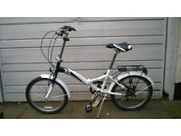 Folding Bike- Used once, brand new with new helmet.