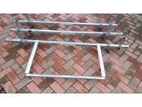 RENAULT MASTER RHINO ROOF RACK WITH ROLLER END, ALL FITTINGS INCLUDED, EX COND!!