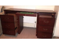 Vintage Silentnight Dressing Table | Solid Mahogany Wood, 7 draws | Cheap Quick Sale BEFORE Feb