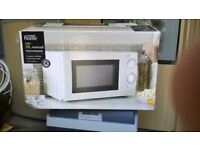 Brand new 17 litre Microwave oven. Boxed, with 2 year warranty