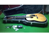Tanglewood acoustic guitar with case