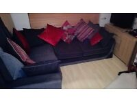 3 seater sofa and corner suite with cushions