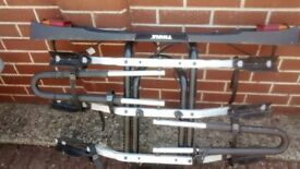 Thule Towbar mounted 3 bike carrier.