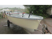 CRACKING 16FT GRP BOAT WITH TRAILER AND A 4 HP OUTBOARD