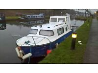 norman 22 cabin cruiser , canal boat , project