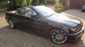 BMW 330Ci, Auto sport, convertible, 2004, 72k miles, SAT NAV, TV, 10Mth MOT