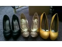 QTY of heels shoes size 4