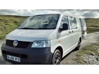 VW Transporter T5 1.9 TDI single berth campervan conversion.