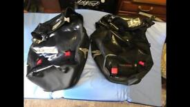 Set of two water proof side bike bags
