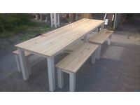 MADE BY HAND COFFEE/DINING TABLES,BEDS,DRESSERS,TV UNIT,SIDEBOARDS,GARDEN&PATIO BENCHES FROM £49
