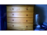 chest of drawers,TV unit and 32 inch samsung TV