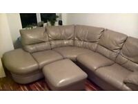 Greay Corner Real Leather Sofa