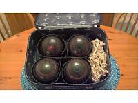 Set of GREENMASTER bowls and Taylor bowls bag
