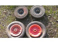 Wheels for a small trailer, trolley