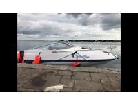 Bayliner Capri 2052 ls 21 foot cuddy speed boat.