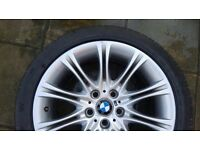 """ALLOY WHEEL BMW 5S 18"""" IDEAL FOR SPARE, HAS SMALL CURBING ON EDGE ONLY SMALL"""
