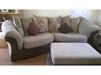 curved 4 seater sofa