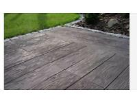 Paving slabs wood log effect 40x40cms