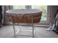 John Lewis Moses Basket and Rocking Stand