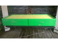 Underbed gaming table with storage/Kids guest bed