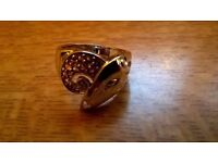 nice silver ring with all the markings