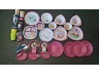 Baby/toddler girls plates etc