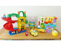 5 toys including: Fisher-Price, Bright Stars, VTech, Little Tikes, George Pig Soft Toy.