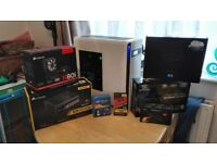 Custom Built High-End Water Cooled PC - i7-5930k, 16GB DDR4, 256GB m2 SSd.