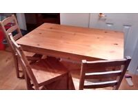 Ikea Dinning Table And 3 chairs