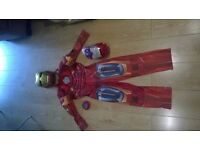 Iron Man Suit With Led Mask and Gauntlet Shooter