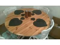 Shabby chic extending dining room table fully restored