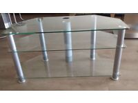 GLASS TV STAND - 3 TIERED