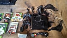 Xbox 360 slim with games and limited edition Halo 4 controller