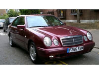 MERCEDES E200 CLASSIC AUTO 1997 P REG MET RED 4 DOOR SALOON PAS A/C ONLY 54K MILES FROM NEW SUPERB