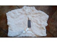 Ivory faux fur shrug, ideal for bride or bridesmaid